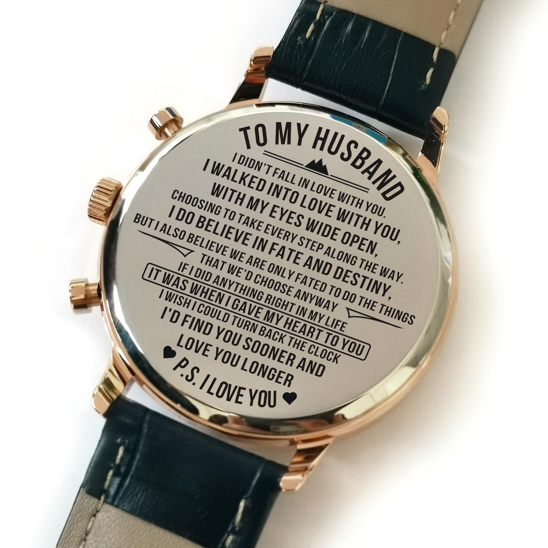 de que EU Te Amo Gravado Relógio