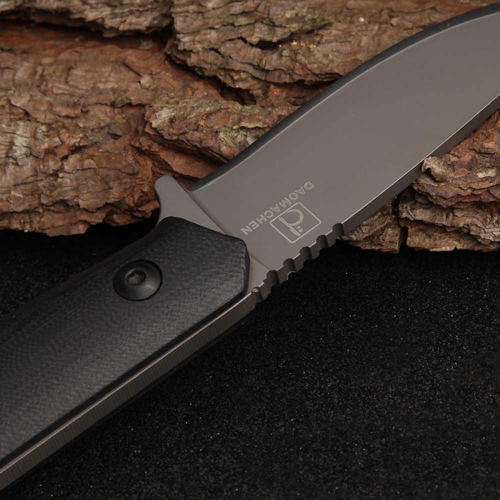 DAOMACHEN عالية الكربون الصلب في الهواء الطلق سكينة تكتيكية بقاء أدوات التخييم جمع الصيد السكاكين مع المستوردة K غمد