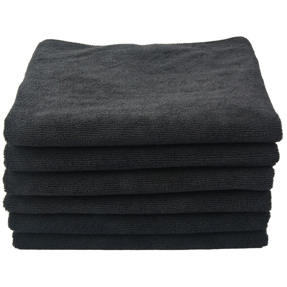 Ultra Thick Microfiber Hand Salon Towel Hair Drying Towels Bath Towel For Spa Hotels Home 16Inchx27Inch 30 Packs Black White
