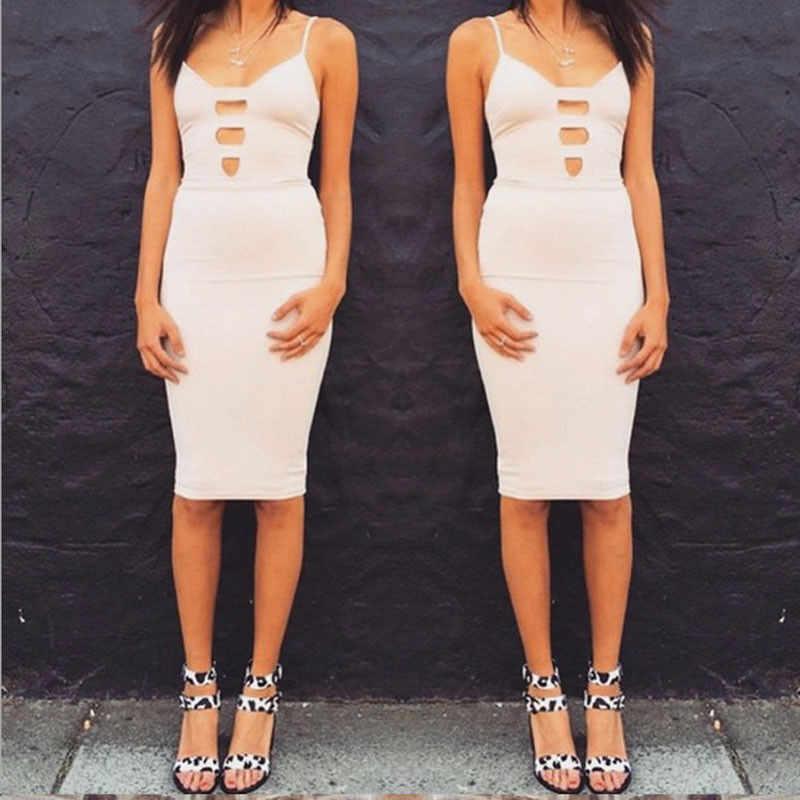 Сексуальное женское летнее Бандажное облегающее платье с выемкой, сексуальное платье с v-образным вырезом, посылка, облегающее платье для вечеринки