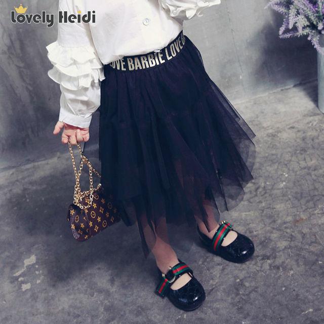 2017  summer  new fashion kids  tutu girl tutu skirt children clothes fluffy soft tulle cute  baby  girls Irregular skirts