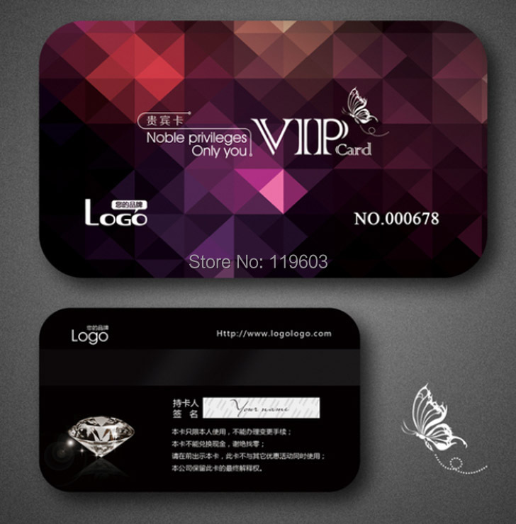 500pcs Custom VIP PVC Card Printing Membership Loyalty Cards Member  Magnetic Strip Plastic Card DHL Free Shipping On Aliexpress.com | Alibaba  Group  Membership Card Design
