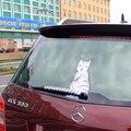 Moda 3 estilos de Venta Caliente 2016 de Dibujos Animados Divertido Gato feliz Moviendo La Cola etiqueta engomada Reflexiva Limpiaparabrisas Del Coche Calcomanías de coches-estilo