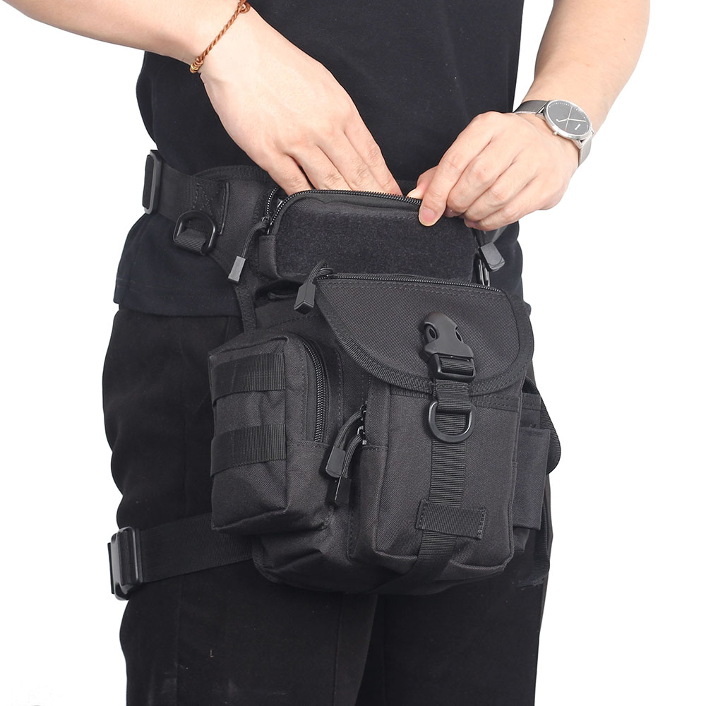 Tactical Men Canvas Leg Drop Bags Waist Pack Motorcycle Fanny Pack Belt Bag Hip Purse Pouch Thigh Fanny Bags For Hunting Hiking