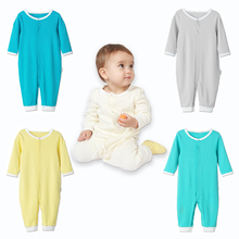 2017 Summer Newborn Infant Baby Romper Clothes Boy Girl Rompers 100% PIMA Cotton Long Sleeve Jumpsuits Clothing Solid