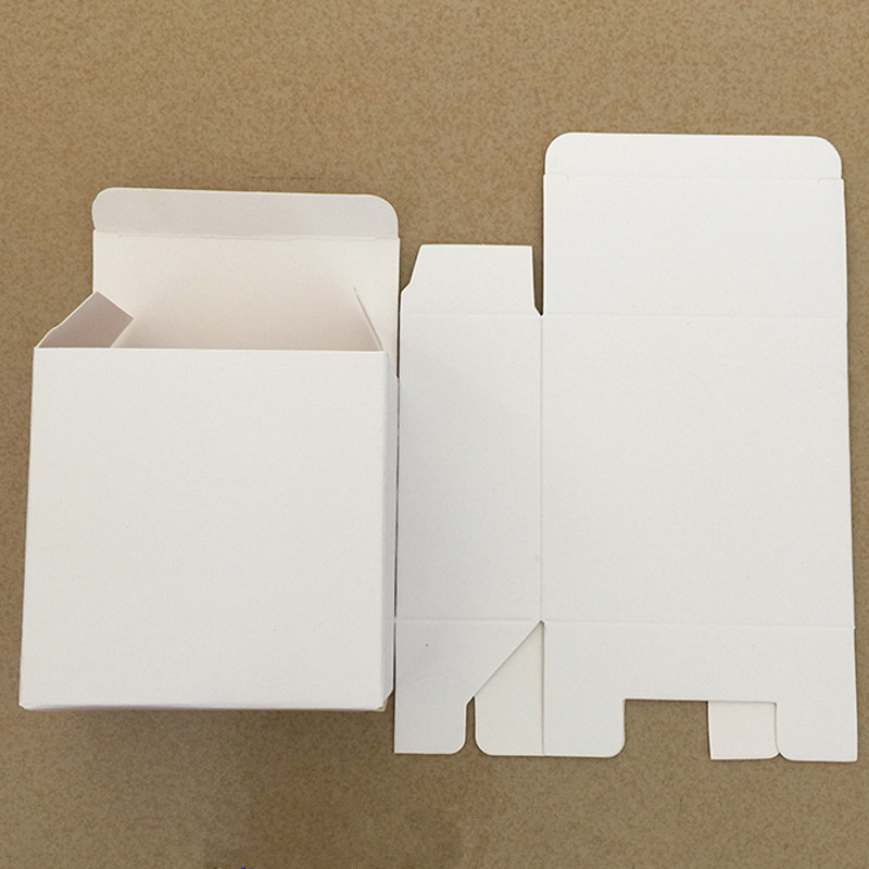 50pcs/lot 350gsm Small Size Blank White Paper Packaging