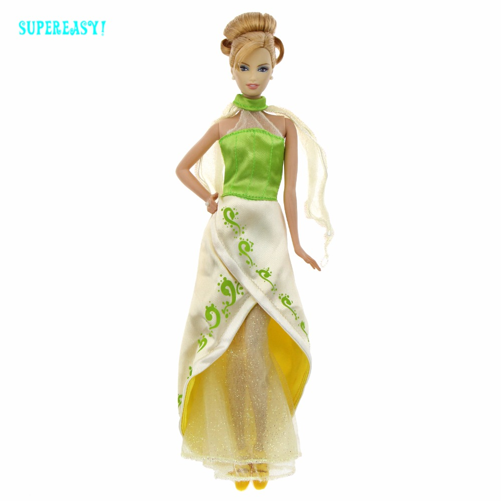 Limited Edition Princess Dress Luxury Dream Wedding Party Gown Evening Suit Halter Neck Clothes For Barbie Doll Accessories Gift autonomous design handmade gifts for girls doll accessories evening suit wedding dress clothes for barbie doll bbi00508