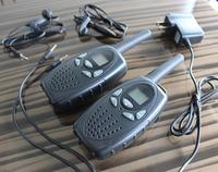 T628 1 Watt long range black 2pcs walkie talkie radio scanner FRS GMRS 2 way CB radios UHF PTT VOX transmitter PMR for kids