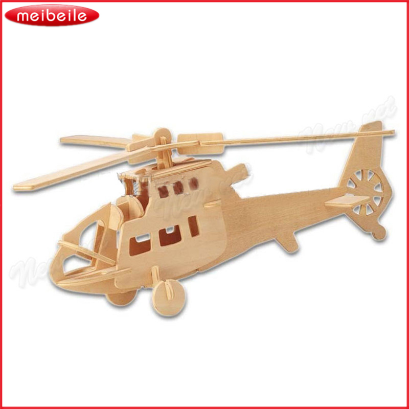 Classic Toy Aircraft Wooden Toys for Children With Parents The Puzzle DIY For Free Shipping