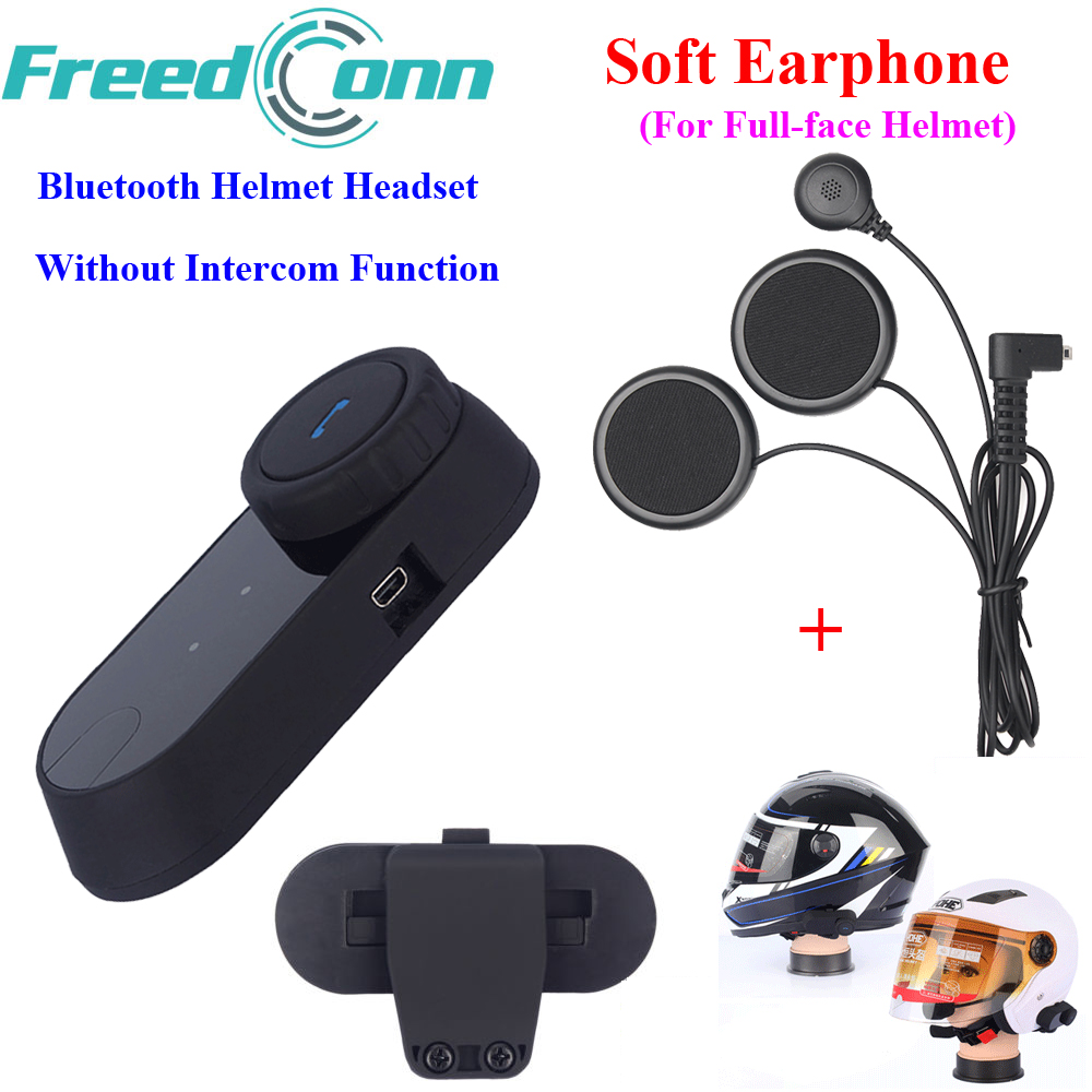 FreedConn Motorcycle Bluetooth Headset Moto Helmet Headsets Without  Intercom Function with Soft Mic
