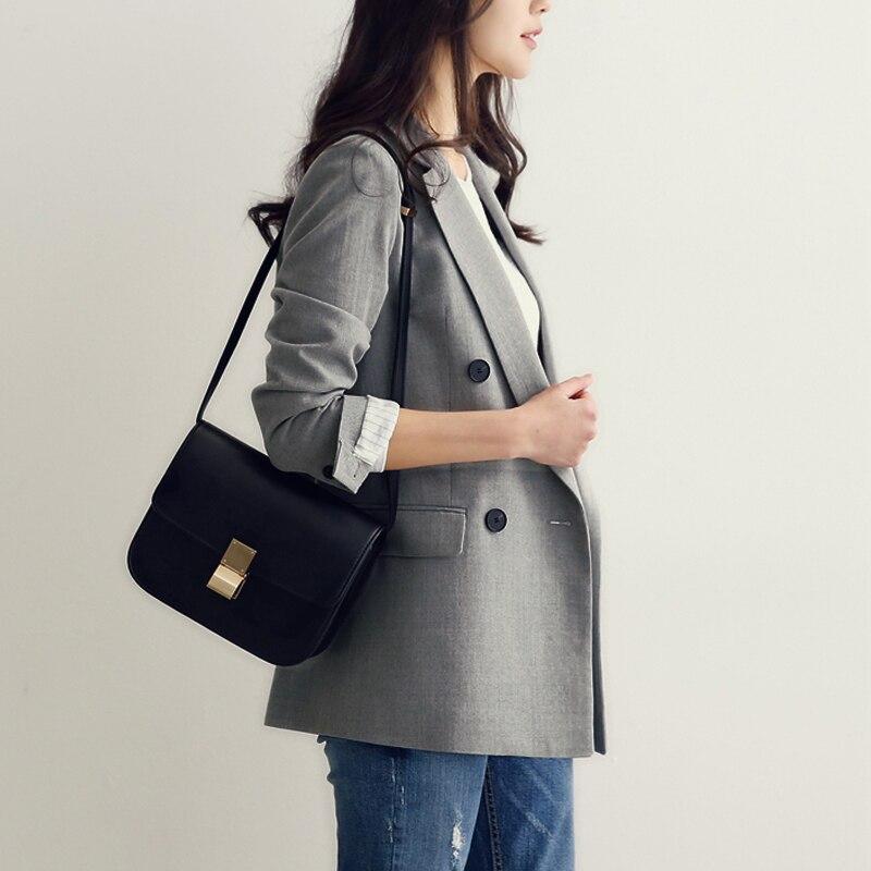 New Women Blazer 2017 Spring Fashion Straight Slim Double Breasted Long Casual Suit Jacket Blaser Feminino Plus Size Autumn Suit