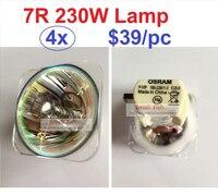 4xLot HRI230W โคมไฟสำหรับ Stage หัวไฟ Scan หลอดไฟ 230W MSD 7R Platinum โลหะหลอดฮาโลเจนติดตามจุด