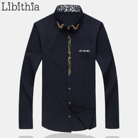 Men's Slim Fit Dress Shirt Large Size 5XL 6XL 7XL Men Long Sleeve Casual Chemise Camisa Social Male Brand Clothing Spring E517