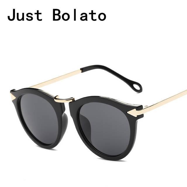 880653549e 2018 New Round Sunglasses Women Sun Glasses Karen Arrow Symbol Brand  Designer Men Gradient Mirror Lens