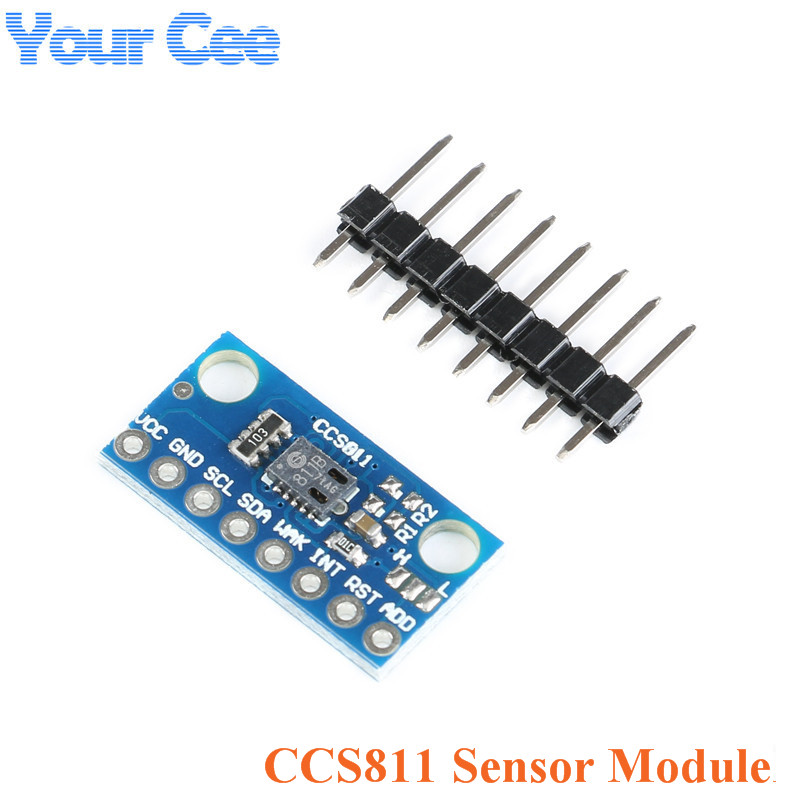 CCS811 Sensor Module GY-811 Air Quality Numerical Gas Sensors TVOC CO2 GY-CCS811 Electronic DIY PCB Board For ArduinoCCS811 Sensor Module GY-811 Air Quality Numerical Gas Sensors TVOC CO2 GY-CCS811 Electronic DIY PCB Board For Arduino