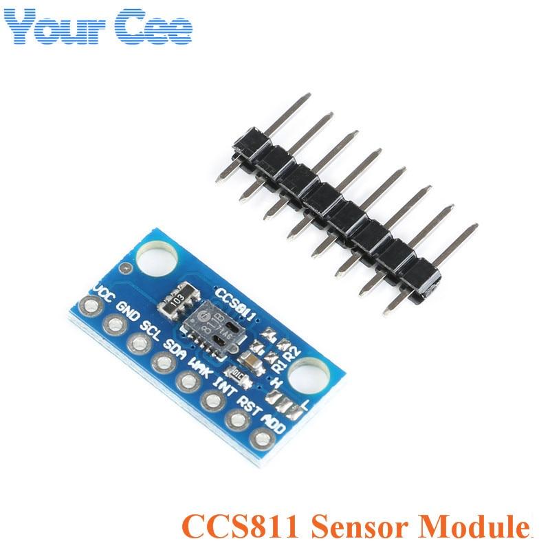 CCS811 Sensor Module GY-811 Air Quality Numerical Gas Sensors TVOC CO2 GY-CCS811 Electronic DIY PCB Board For Arduino