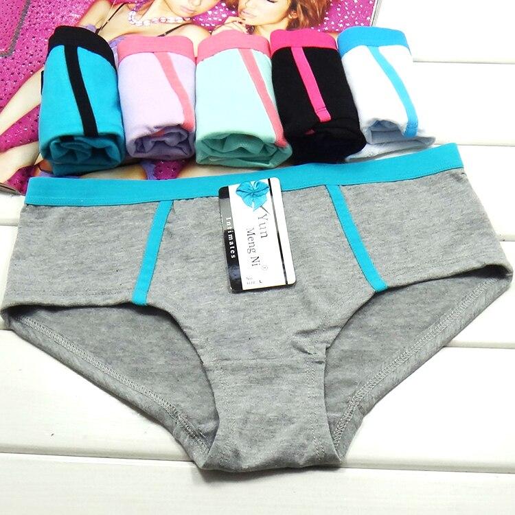 Pure Cotton Underwear Sexy Ladies   Panties   Ladies Girls   Panties   Lingerie M L XL Women's Cotton Briefs 6pcs/pack