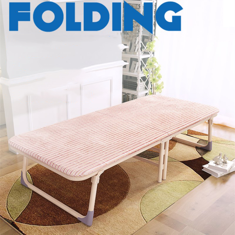 Heavy Duty Folding Single Beds/Cots Anti slip Metal Frame with Soft Mattress Portable Adults Use Guest Bed for Home Office