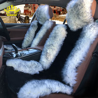 Rownfur Brand New Seat Covers Universal Size For Car Front Seat High Quality Australian Sheepskin Car