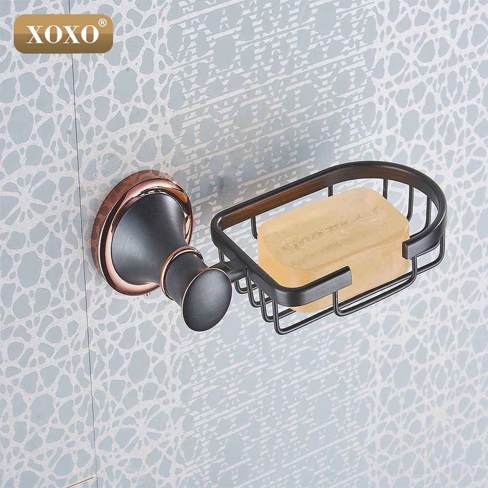 XOXONew luksusowe miedzi Mydło kosz/mydelniczka/mydelniczka/łazienka akcesoria Podwójny cel stempla i wklej 21011