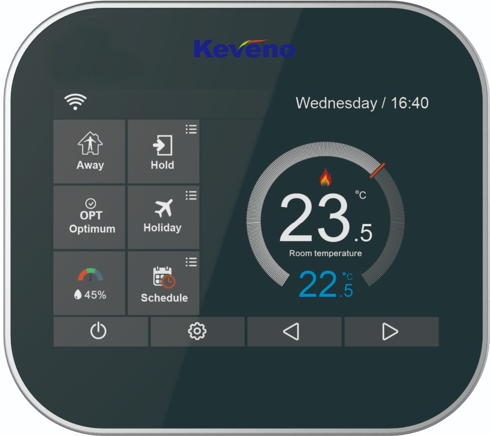 WiFi Enabled Programmable Heating Thermostat With Hot Water Boosted