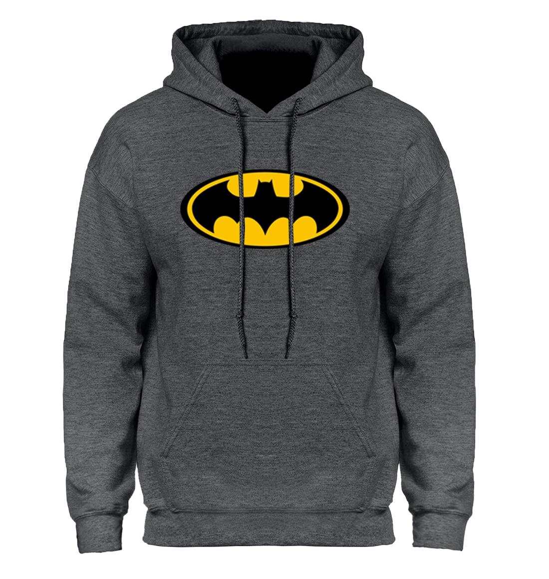 Batman Dos Desenhos Animados Moletom Com Capuz Camisola Hoodies Dos Homens 2018 Outono Inverno Com Capuz Casaco Com Capuz Homens Casual Silm Projeto de Venda Quente do Sexo Masculino dos homens casaco