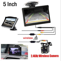 3 in 1 Wireless parking Kit 5 TFT LCD Monitor Bracket with Car Rear view Camera Reverse AUTO Assistance 12V Video Input For DVD