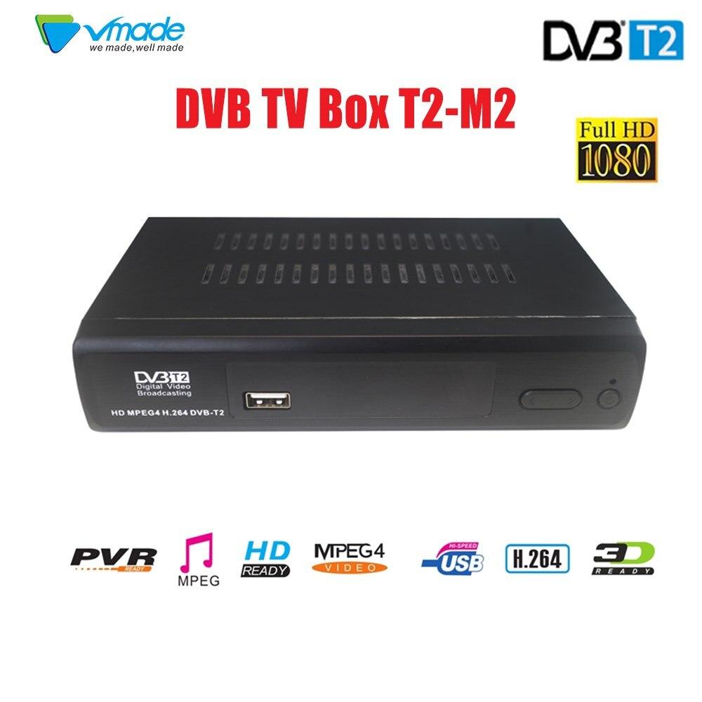 VMADE SET TOP BOX récepteur Terrestre HD Numérique DVB T2 M2 TV Tuner Débiteurs MPEG4 DVB-T2 TV Récepteur T2 Tuner livraison Gratuite