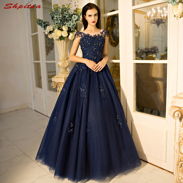 Navy Blue Mother Of The Bride Dresses For Weddings Beaded Lace A Line Evening Gowns Groom