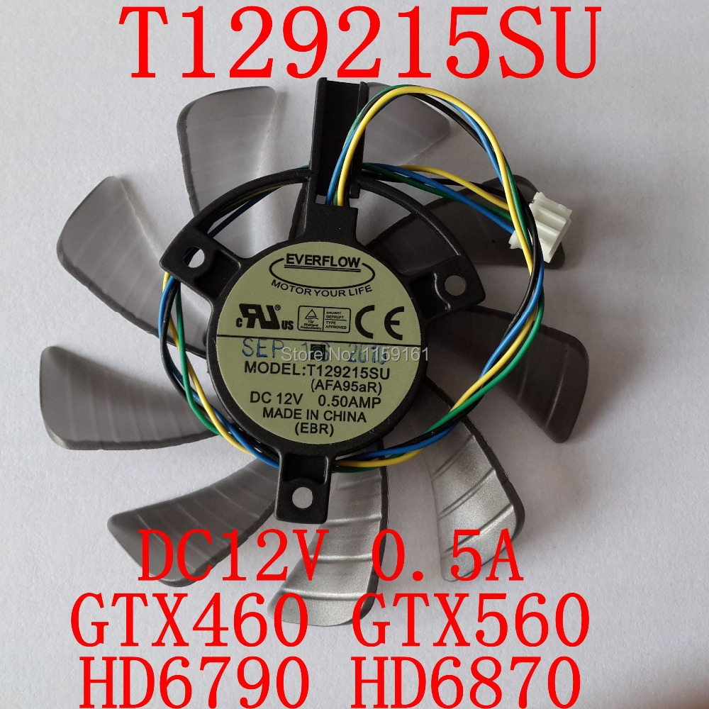 Free Shipping  T129215SU 85mm 12V 0.5A 4PIN for ASUS GTX460 GTX560 HD6790 HD6870 Cooling fan tamiyarising sue su 85 tanks containing pastel 89797