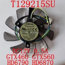 Free Shipping  T129215SU 85mm 12V 0.5A 4PIN for ASUS GTX460 GTX560 HD6790 HD6870 Cooling fan