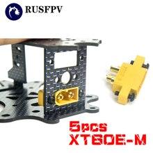 5 pcs ACUMULAR XT60E-M Montável Xt60 Macho para Corridas de RC Zangão FPV 4.23g