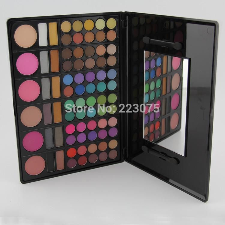 78 Colors Eyeshadow Palette Makeup Set 72 Color Eye Shadow 6 Blusher Natural