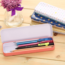 1 Pc porte-crayon en métal pour enfants garçon fille étudiants couleur de base motif boîte à crayons 202x62x21mm charcuterie 3007