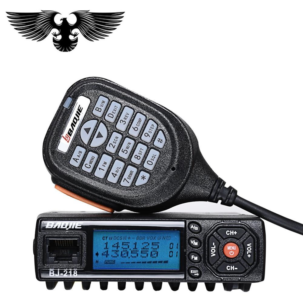 New car Walkie Talkie Radio baojie Comunicador bj-218 Long Range Mini Mobile Radio Ricetrasmettitore VHF/UHF Ham Radio CB