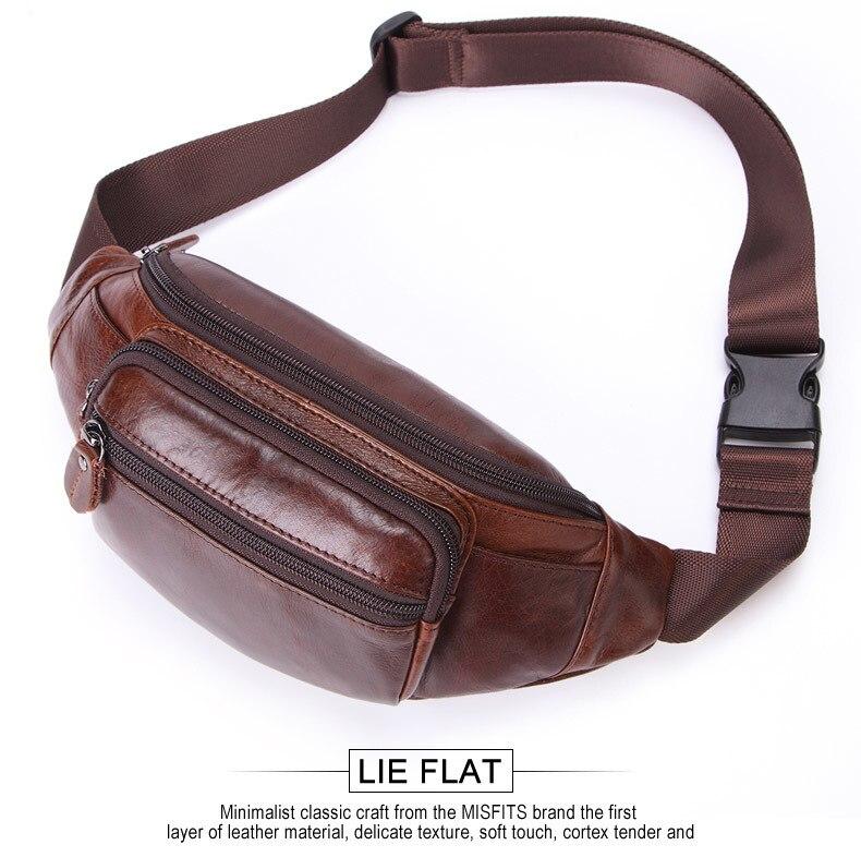 da cintura cinto de couro fanny pacote