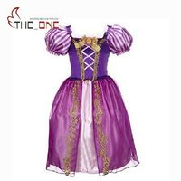 Girls Rapunzel Princess Party Dresses Kids Snow White Belle Cinderella Sleeping Beauty Sofia Cosplay Costume Children