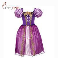Girls Rapunzel Princess Party Dresses Kids Snow White Belle Cinderella Sleeping Beauty Sofia Cosplay Costume Children