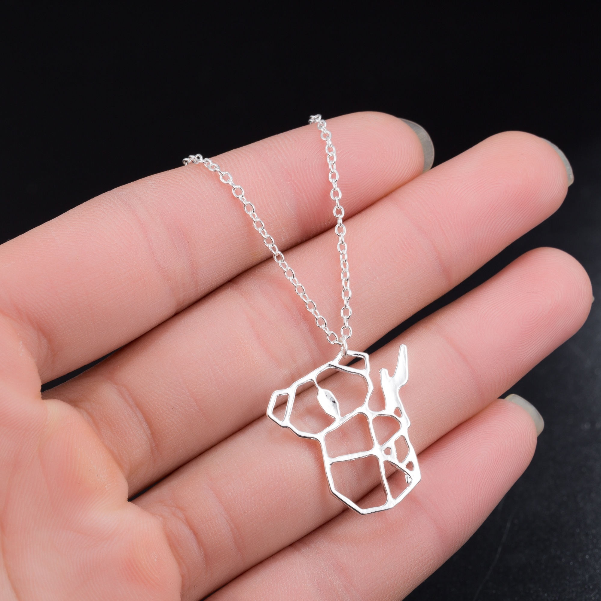 Cute Hollow-out Australian <font><b>Koala</b></font> <font><b>Bear</b></font> Feature Necklace Charm Animal <font><b>Jewelry</b></font> for Women Kids Children Day Gift image