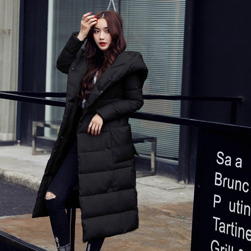 Mujer Abrigo 2xl Invierno Mujeres Chaqueta Nueva black De red 2017 Parkas Collar L54 Grande Encapuchada Gray Outwear Espesar Grandes Tamaño 7gqx0O7tw