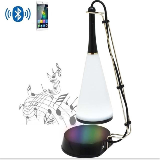 Novo criativo música bluetooth led interruptor de toque lâmpada de mesa de carga usb luz de leitura de mesa led lamp com orador novelty luz