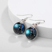 Earrings black hole lovers glass earrings men and women look starry sky new