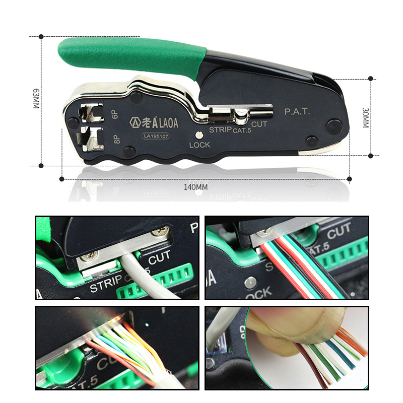 LAOA Terminal Cutting  Tool Cable Crimper Portable Wire Tools Network Stripper Plier Pliers Crimping Crimp Cutter
