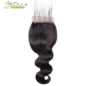 Image 2 - Nadula ヘア 5*5 実体波レースクロージャー無料パートの Remy 人間の毛髪ナチュラルカラーブラジルの髪の閉鎖ベビーヘアー