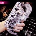 Luxo fox Diamante TOP real rex rabbit fur cabelo Coque Capa Sony Xperia Z1 Z3 Z5 E5 compacto C4 A2 M4 M5 Z4V L36H Capa Carcasa