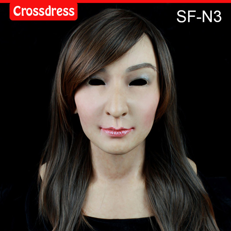 SF-N3  silicone true people mask  costume mask human face mask silicone dropshipping sf 8 silicone true people mask costume mask human face mask silicone dropshipping
