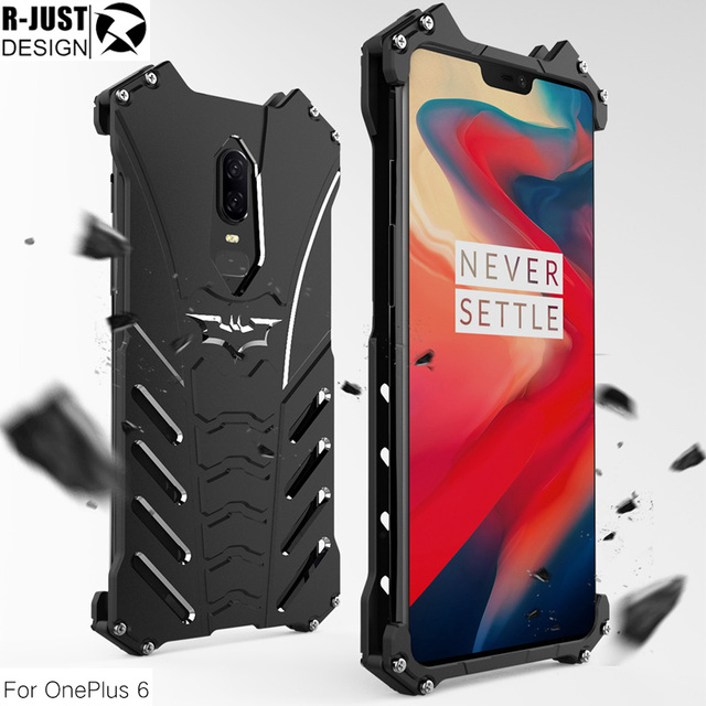 huge selection of 15c1e b04f9 US $14.99 |R JUST Case For Oneplus 6T 6 5T Metal Aluminum Heavy Duty  Protection Shockproof Phone Cover Shell-in Phone Bumper from Cellphones &  ...