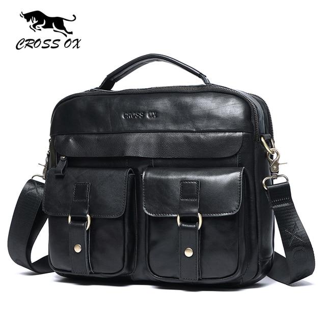 CROSS OX Новое поступление 2017 года натуральная кожа сумки для мужчин воск кожа сумка портфель мужская сумка HB568M