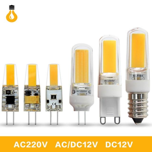 g4 g9 e14 lampada led lamp 220v ac dc 12v cob bombillas