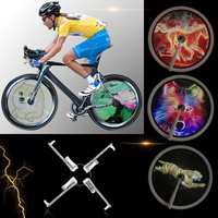 256/416pcs RGB LED Smart Cycle Bike Bicycle Light Colorful Wheel Spoke Light Programmable DIY Light Lamp Pattern bicicleta